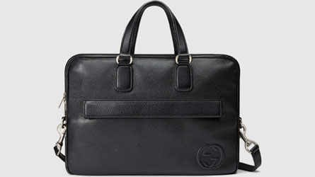 Gucci - black leather briefcase Bag